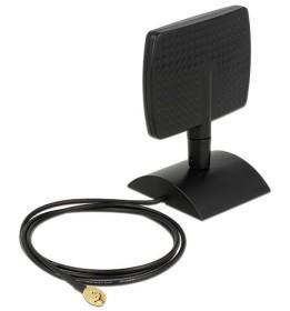 DeLOCK WLAN ac/a/b/g/n Antenne, RP-SMA 4-6dBi direktional mit magnetischen Standfuß schwarz (88902)