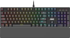 AOC Gaming GK500, schwarz, LEDs RGB, Gaote Outemu RED, USB, DE