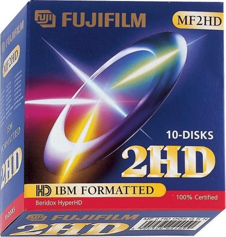 Fujifilm MF2HD 1.44MB Floppydiscs, 10-pack -- via Amazon Partnerprogramm