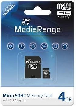 MediaRange R10 microSDHC 4GB, Class 10 (MR956)
