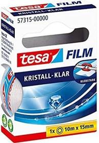 tesa tesafilm Kristall-Klar 57315 Klebeband transparent Faltschachtel, 15mm/10m, 1 Stück (57315-00000)