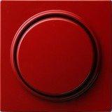 Gira Abdeckung mit Knopf für Dimmer und elektronisches Potentiometer, rot (0650 43)