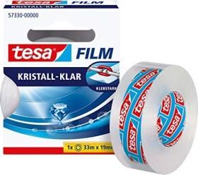 tesa tesafilm Kristall-Klar 57330 Klebeband transparent Faltschachtel, 19mm/33m, 1 Stück (57330-00000)