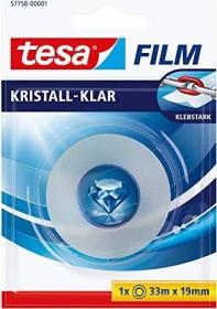 tesa tesafilm Kristall-Klar 57758 Klebeband transparent Blister, 19mm/33m, 1 Stück (57758-00001)