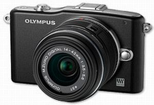 Olympus PEN E-PM1 black with lens M.Zuiko digital 14-42mm II (V20601BBE000)