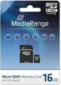 MediaRange microSDHC 16GB Kit, Class 10 (MR958)