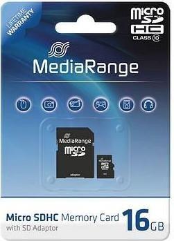 MediaRange R10 microSDHC 16GB kit, Class 10 (MR958)