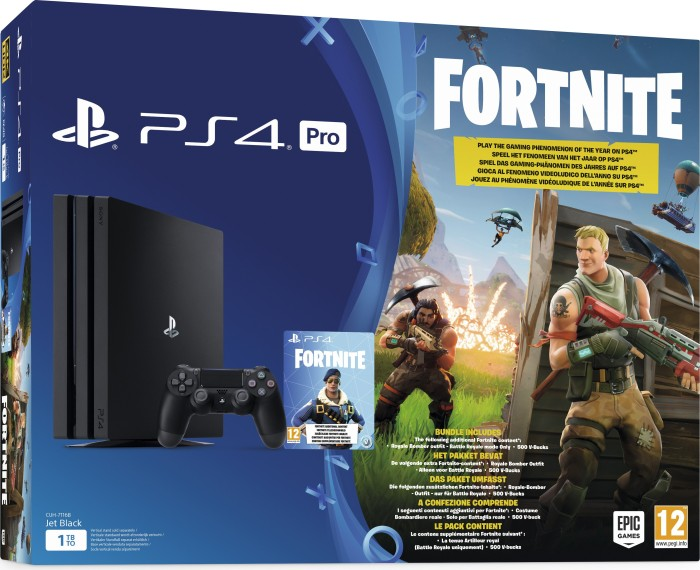 Sony Playstation 4 Pro - 1TB Fortnite Bundle black