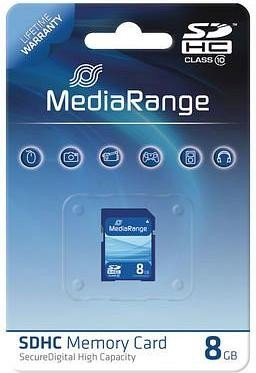 MediaRange R10 SDHC 8GB, Class 10 (MR962)