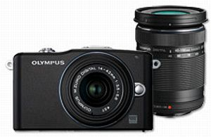 Olympus PEN E-PM1 black with lens M.Zuiko digital 14-42mm II and M.Zuiko digital ED 40-150mm (V20601CBE000)