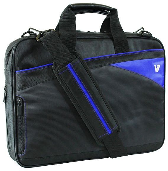 "V7 Edge slim Toploader 14.1"" carrying case black/blue (CTD6-BLU-9E)"