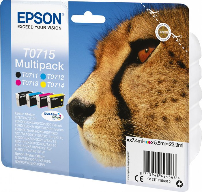 Epson T0715 ink multipack (C13T07154010)