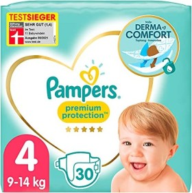 Pampers Premium Protection Gr.4 Einwegwindel, 9-14kg, 30 Stück