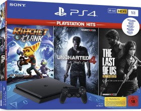 Sony PlayStation 4 Slim - 1TB PlayStation Hits Bundle schwarz (9720713)