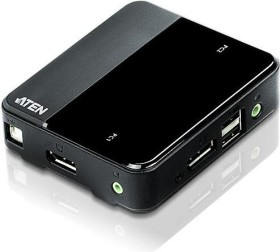 ATEN 2-Port DisplayPort KVM Switch mit USB/Audio (CS782DP)
