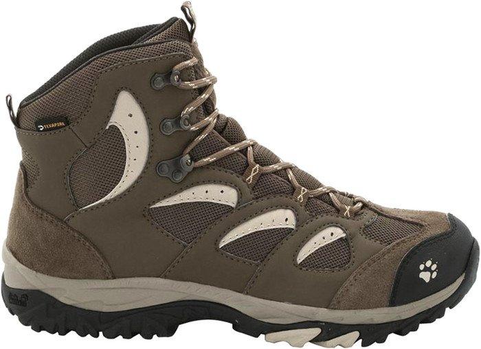 Jack Wolfskin Mountain Storm Texapore Mid, Damen Trekking- & Wanderstiefel, Braun (Sahara 5122), 39