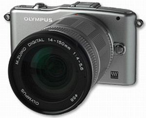 Olympus PEN E-PM1 (EVIL) silver with lens M.Zuiko digital ED 14-150mm (V20601ESE000)