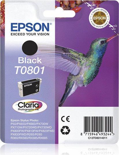 Epson T0801 Tinte schwarz (C13T08014010)