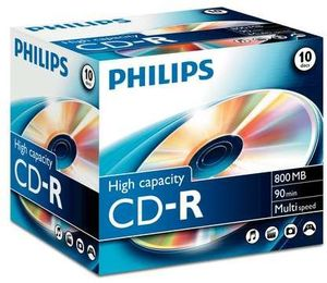 Philips CD-R 90min/800MB, 10-pack (CR8D8NJ10)