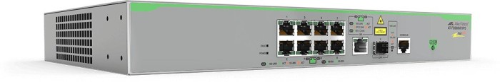 Allied Telesis CentreCOM FS980M Desktop Managed Switch, 8x RJ-45, 1x RJ-45/SFP, 150W PoE+ (AT-FS980M/9PS / 990-005047)