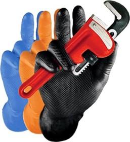 Franz Mensch Hygostar Nitril Power Grip Disposable Gloves S black, 50 pieces (270868)