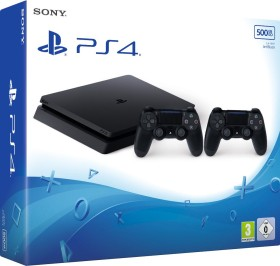 Sony PlayStation 4 Slim - 1TB inkl. 2 Controller schwarz