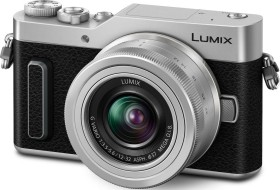Panasonic Lumix DC-GX880 silber mit Objektiv Lumix G Vario 12-32mm OIS und 35-100mm OIS (DC-GX880W-S)