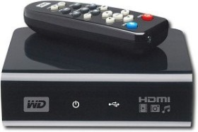 Western Digital WD TV HD Media Player Bundle schwarz 500GB (WDME5000TE/KIT)