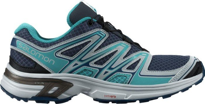 Salomon Damen L38158100 Traillaufschuhe, Blau (Slateblue/Light Onix/Teal Blue F Slateblue/Light Onix/Teal Blue F), 40 2/3 EU