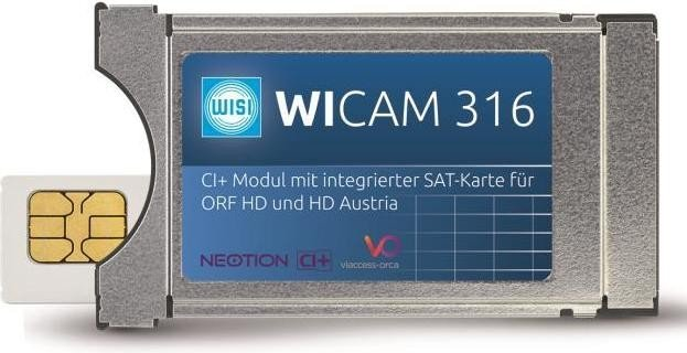 Orf Karte Ci Modul.Wisi Wicam 316 Ci Module With Integrated Sat Card For Orf And Hd