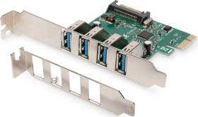 Digitus DS-30221-1, 4x USB 3.0, PCIe 2.0 x1