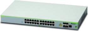 Allied Telesis CentreCOM FS980M Rackmount Managed stack switch, 24x RJ-45, 4x RJ-45/SFP (AT-FS980M/28 / 990-005050)