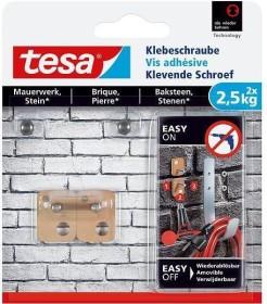 tesa Klebeschraube dreieckig braun für Mauerwerk und Stein, 2.50kg Tragkraft, 2 Stück (77901-00000)