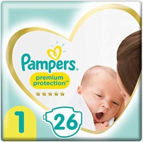 Pampers Premium Protection New Baby Gr.1 Einwegwindel, 2-5kg, 26 Stück