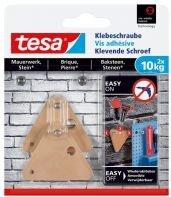 tesa Klebeschraube dreieckig braun für Mauerwerk und Stein, 10.00kg Tragkraft, 2 Stück (77907-00000)
