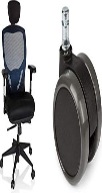 HJH Office Venus Base Bürostuhl, schwarz/blau (657110)