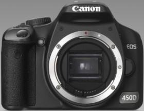 Canon EOS 450D schwarz mit Objektiv Fremdhersteller
