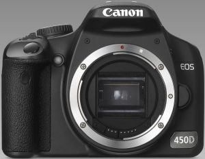 Canon EOS 450D (SLR) with third-party manufacturer lens