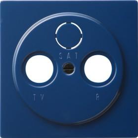 Gira S-Color Abdeckung für Koaxial-Antennensteckdose, blau (0869 46)
