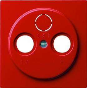 Gira S-Color Abdeckung für Koaxial-Antennensteckdose, rot (0869 43)