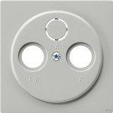 Gira S-Color Abdeckung für Koaxial-Antennensteckdose, grau (0869 42)