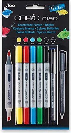 COPIC ciao Set 5+1 Leuchtende Farben sortiert, 6er-Pack (22075550) -- via Amazon Partnerprogramm