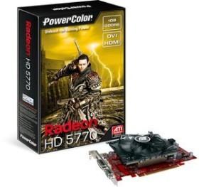 PowerColor Radeon HD 5770, 1GB GDDR5, VGA, DVI, HDMI (AX5770 1GBD5-H/R84FH-TI3)