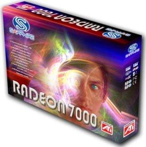 Sapphire Radeon 7000, 64MB DDR, VGA, DVI, TV-out, PCI (11003-06-10)
