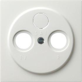 Gira S-Color Abdeckung für Koaxial-Antennensteckdose, reinweiß (0869 40)