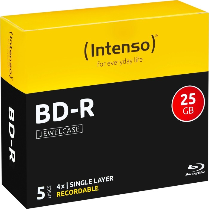 Intenso BD-R 25GB 4x,  5er Jewelcase (5001215)