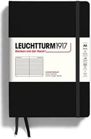 Leuchtturm1917 notebook Medium A5 Hardcover, lined, black (300612)