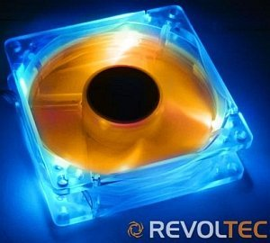Revoltec LED-UV blue/orange 80mm (RL023)