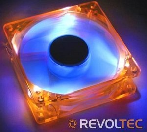 Revoltec LED-UV orange/blue, 80mm (RL024)