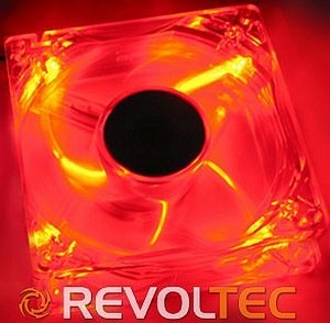 Revoltec Dark Red 80x80x25mm, 2000rpm, 43m³/h, 21dB(A) (RL022)